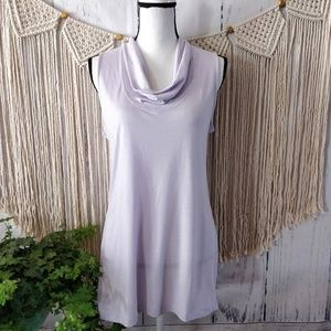 4/$25 Lucy Lavender Cowl Neck Active Top M